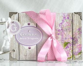 Baby Girl Memory Book, Customized Baby Scrapbooking, Blank Scrapbook Album in Purple, Handmade Baby Girl Photo Album, Keepsake Baby Book