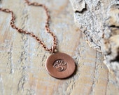 OM necklace - yoga jewelry - copper om ohm aum necklace - mens yoga necklace - unisex yoga jewelry