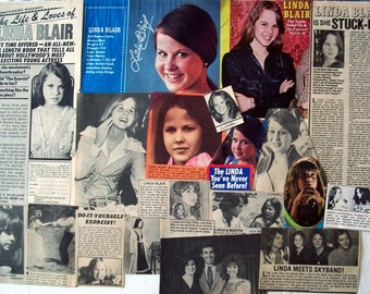 LINDA BLAIR ~ Regan MacNeil, The Exorcist, Hell Night, Repossessed, S Club 7 ~ Color and B&W Clippings from 1974-1979