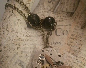 Steampunk Necklace Steampunk  Propeller Watch Piece Necklace Steampunk Jewelry