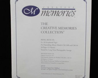 Creative Memories 8 x 10 Scrapbook Pages 15 sheets 30 pages RCM-10S