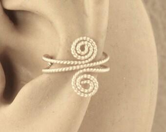 Ear Cuff, Cartilage Cuff, 14KT Gold Filled Cuff, Twisted Wire Cuff, Spiral Ear Cuff, Ear Wrap, Cartilage Cuff, Non Pierced, Gift Under 10