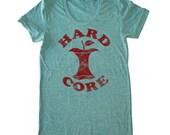Hardcore woman's foodie t-shirt