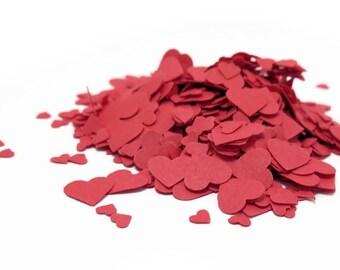 Tiny Confetti, Metallic Red Confetti, Heart Confetti, Red Confetti, Confetti Hearts,  Small Confetti, Paper Confetti, Paper Hearts