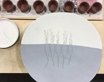 Abe&Maria's Registry Earthenware Platter