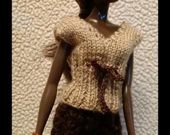 Mocha Sweater and Skirt