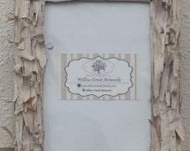 Birch bark picture frames