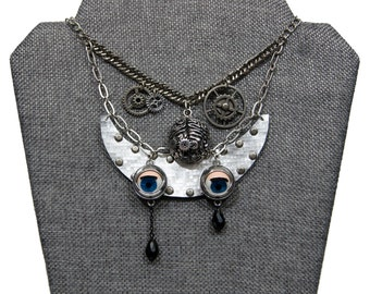 Robots CAN Cry Metal Steampunk Necklace