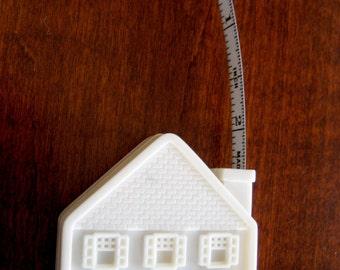 Advertising Tape Measure - House Shaped Tape Measure - Vintage Advertising House Tape Measure - Made in USA - Housewarming Gift
