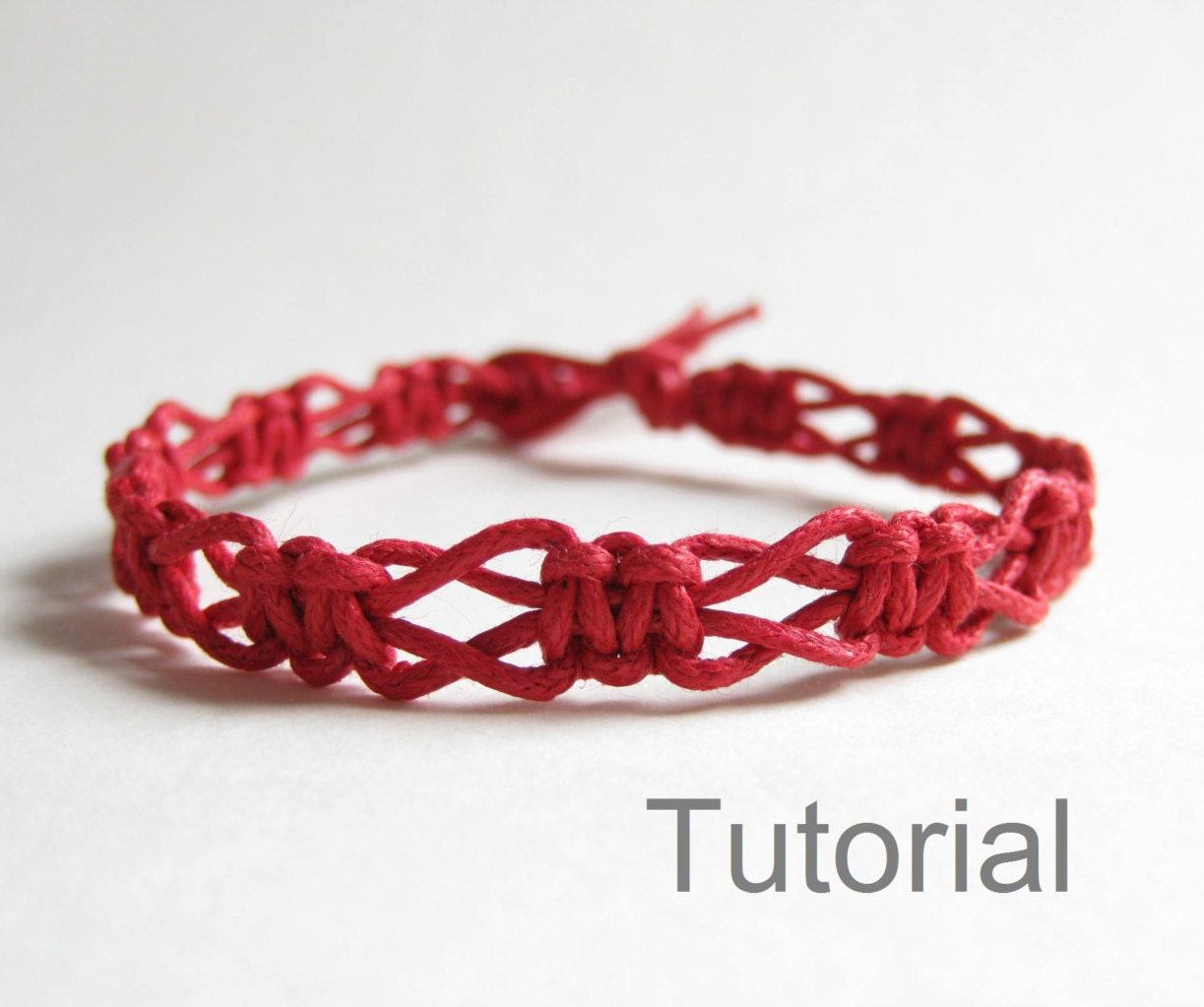 beginners macrame knotted bracelet pdf tutorial pattern. Black Bedroom Furniture Sets. Home Design Ideas