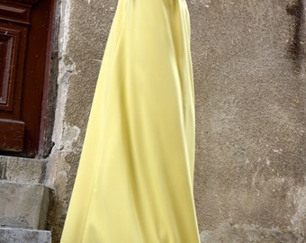 NEW Spring 2016 Maxi Dress /Yellow Mustard Kaftan /Extravagant Long  Dress / Party Dress / Daywear Dress with side pockets by AAKASHA A03370