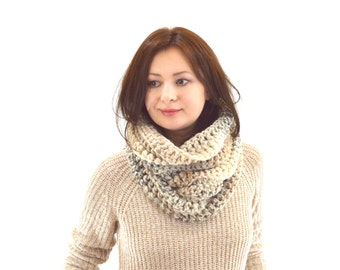 Chunky Cowl Neckwarmer Scarf // The Newport // in Sandstone