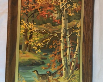 Pheasants Paint By Number Vintage Fall Scene