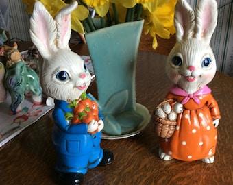 Vintage Easter Bunny Set Ceramice  Nice