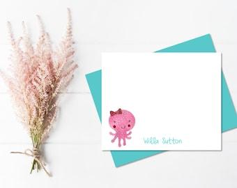 Girls Stationery | Girls Stationary | Kids Stationery | Kids Stationary | Personalized Girls Note Cards | Personalized Girl Gifts