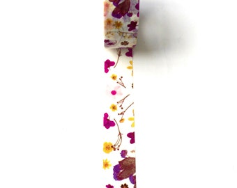 Washi Tape Purple / Yellow Flowers