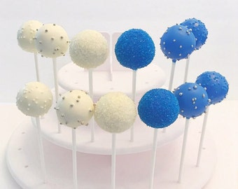 Blue & White Wedding Cake Pops