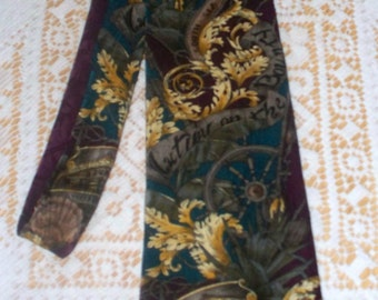 Vintage Mutiny on the Bounty Men's Tie  - 100% Silk - Made in USA - Turner Entertainment Co - American Film Classics
