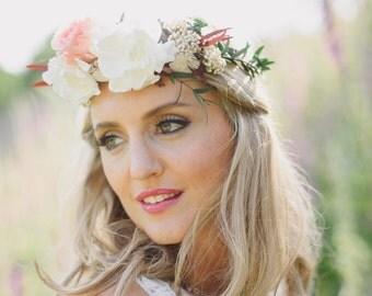 Floral crown, flower crown, preserved flowers, bridal flower crown, flower halo, wedding flower crown