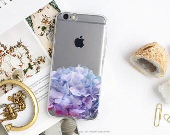 iPhone 7 Hydrangea Clear Rubber Case iPhone 7 Plus Clear Case iPhone 6 Clear Case iPhone 6S Case iPhone SE Case Samsung S7 Edge Case U90