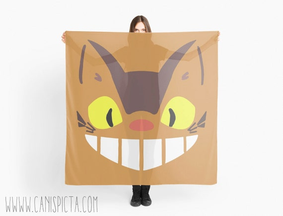 Cat Bus Movie Anime Miyazaki Scarves Wrap