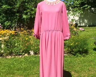 Silken rose tea dress (free size)