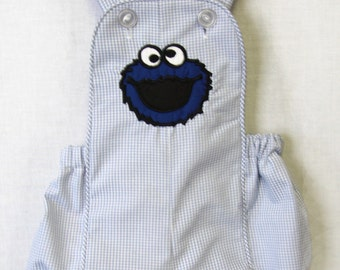 Baby Boy Clothes | Cookie Monster Birthday Outfit | Baby Boy First Birthday Outfit | Cake Smash Outfit | Baby Boy Sunsuit 292343