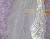 Two of a Kind (55) Lace Communion Veil, White