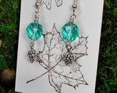 Pinecone Earrings,  First Frost Earrings, Woodland Earrings, Pine Cone Earrings, Czech Bead Earrings