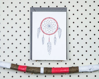 Letterpress card - Dreamcatcher