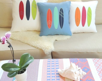 Surfboard Pillow Cover - Boho Beach Decor