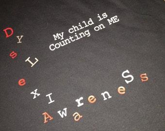 Adult Parent Dyslexia Shirt-Vinyl