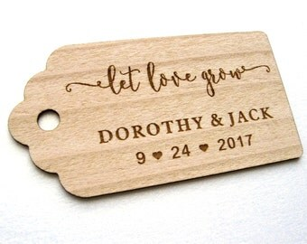 Favor tags, Favor Love Grow tags, Thank you tags, Wedding Favors, Gift tags, Rustic Wedding, Personalized tags, Rustic Tags, Rustic Decor