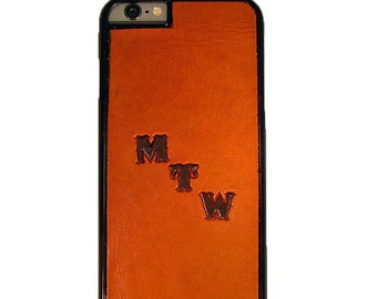 Monogrammed IPhone 6 Leather Case