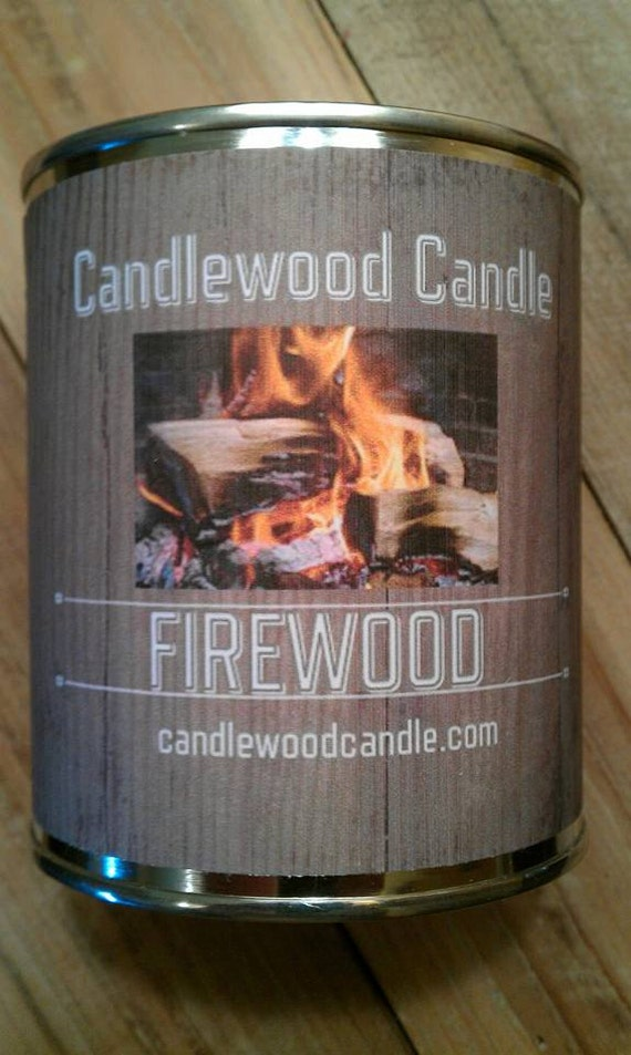 FIREWOOD in a CAN -  Authentic Wood Burning Fireplace Candle 16 oz.