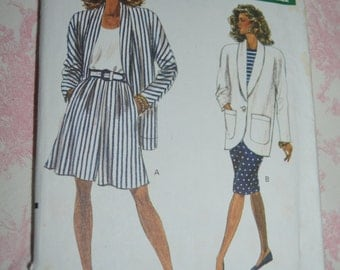 Vogue 7481 Misses Jacket Shorts and Skirt  Sewing Pattern - UNCUT - Sizes 12 14 16