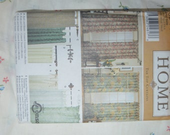 Simplicity 9544  Tab Top Curtains Sewing Pattern - UNCUT