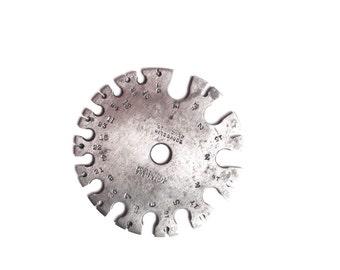 Antique wire gauge steel Robert Sorby of Sheffield industry tool garage iron ironmonger tool toolbox