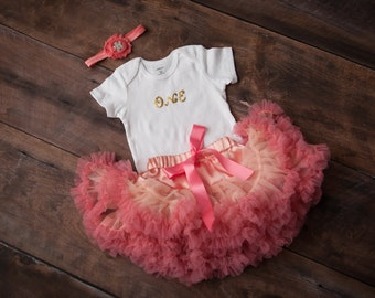 Pink Tutu, Birthday Tutu Set, First Birthday Tutu, First Birthday Girl Outfit, Pink Tutu, Girl Birthday Outfit, Tutu and Headband