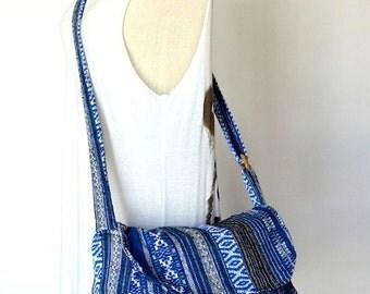 Hippie Messenger Bag Handbags Nepali Woven Bag Crossbody Bag Camera Bag Boho Bag Cotton Shoulder Bag Tribal Purse Ethnic Bag, Everest
