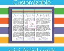 Rodan and Fields Mini-Facial Cards - Promotion - Network Marketing materials - Business Card size - Customizable - R & F - Direct Sales