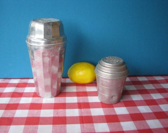 Thompsons Double Malted Shaker and Smoothie Mixer (2) - Aluminum - Mid Century - Vintage 1950's
