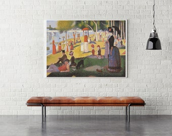 Counted Cross Stitch PATTERN A Sunday Afternoon on the Island of La Grande Jatte by Georges Seurat, Cross Stitch Chart