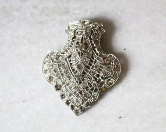 1930s silver N.E. dress clip // vintage dress clip // vintage brooch