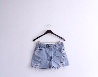 Levis Denim Cut Off Shorts