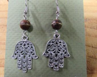 Hand of Fatima Earrings, Hand of Fatima jewelry, Hamsa hand, Hamsa earrings, Hamsa jewelry, Fatima earrings, khamsa earrings, khamsa jewelry