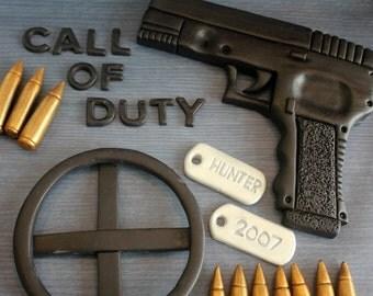 Call Of Duty Fondant Cake Topper 24pc Decoration Set