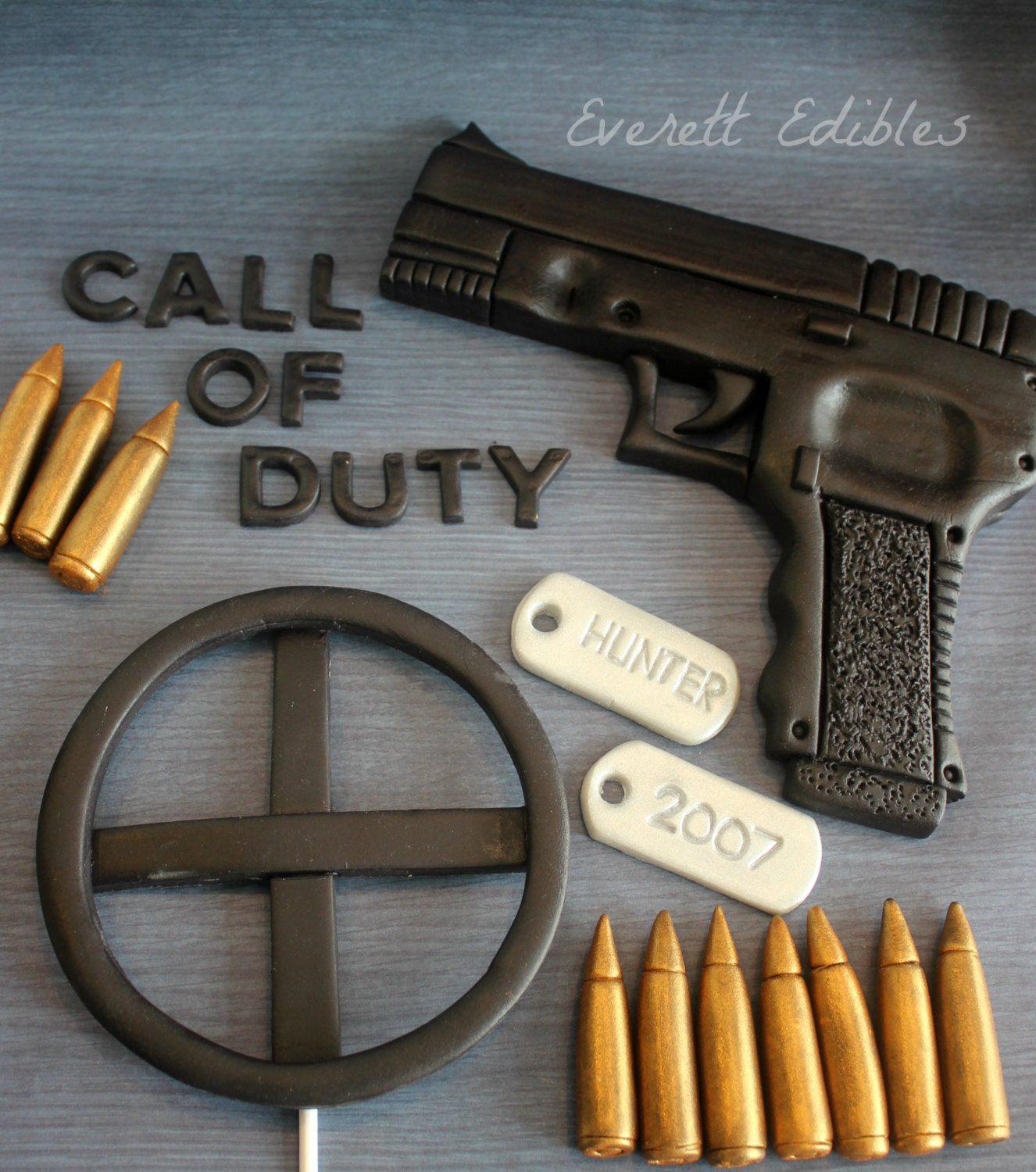 Call Of Duty Fondant Cake Topper 24pc Decoration by ...