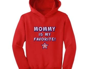 Mommy is My Favorite Toddler-Kids Hoodie