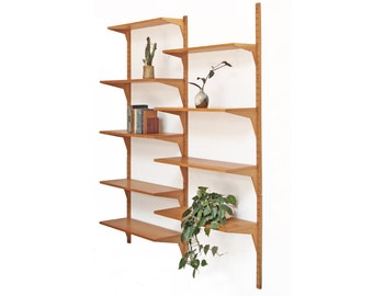 Oak Cado Wall Unit Danish Mid Century Bookshelf